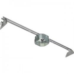 Arlington Industries - FBRS420SC - Arlington FBRS420SC 4 Octagon Box w/Hanger, 2 Deep KOs, Metallic