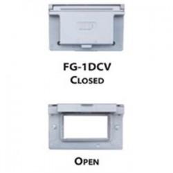 Teddico - FG-1DCV - BWF FG-1DCV 1 Gang Horizontal, Gfci Cover, Grey