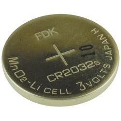 Dantona - CR2032 SANYO - Battery, 3 V, 2032, Lithium, 240 mAh, Pressure Contact, 20 mm