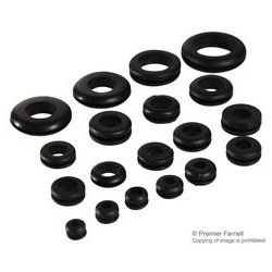 Pro Power - 151-201 GROMMET KIT - Grommet Kit, 450 Pcs, Assortment of Blank and Open Grommets in Storage Case, PVC, Black