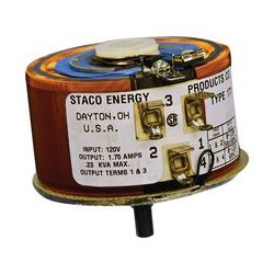 Staco Energy - 171 - Variable Transformer, 120 VAC, 120 VAC, 1.75 A, 1.75 A, CW / CCW