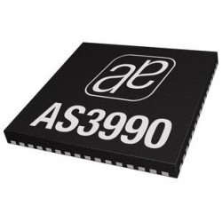 Austria Mikro Systeme (AMS) - AS3991BQFT - UHF RFID IC, EPC Class1 Gen2, 900MHz, Reader, ASK/PR-ASK Modulation, 3.3V / 20 mA supply, QFN-64