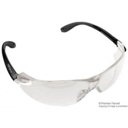 3M - 11670-00000 - Glasses, Virtua V4, Protective / Safety, Hard Coat, Transparent, Black, Grey, 11670 Series