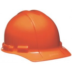 3M - 45974-00001 - Hardhat 6 Pint Ratchet Suspension Hi-viz Orange Aosafety Polyethylene Ansi Z89.1-1997 Type 1 Class E Sei Certified, Ea
