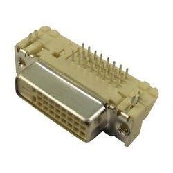 Molex - 74320-4000 - DVI Digital Video Interface Connector, 24 Contacts, Receptacle, Panel Mount, Gold Plated Contacts