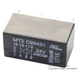 TE Connectivity - C93431 - Signal Relay, DPDT, 24 VDC, 2 A, MT2 Series, Through Hole, Non Latching