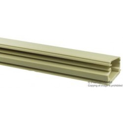 Pro Power - 8443-0485 - Raceway Duct, Price Per Foot, Pack of 4 6 Foot Pieces, Solid Wall Series, 19.05 mm, 12.7 mm, Ivory