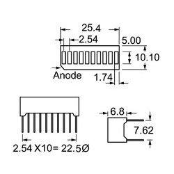 Lumex / ITW - SSB-LX2965IGW - Bar Graph Led