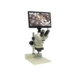 Aven Tools - 26800B-385 - Digital Microscope, Trinocular, Mighty Cam, Eidos 2M Integrated Monitor, 6.7x to 50x Zoom