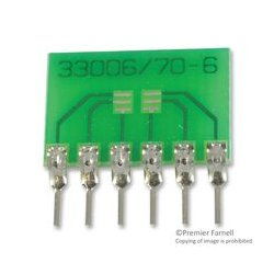Capital Advanced - 33006 - IC Adapter, 6-SC70 to 6-SIP, 0.65mm Pitch Spacing, 2.54mm Row Pitch, 33000 Series