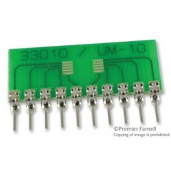 Capital Advanced - 33010 - IC Adapter, 10-MICROMAX / MSOP to 10-SIP, 0.5mm Pitch Spacing, 2.54mm Row Pitch, 33000 Series