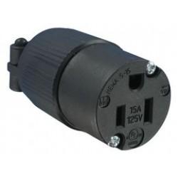 Qualtek Electronics - Q-712 - Power Entry Connector, NEMA 5-15R, 15 A, Black, 125 V