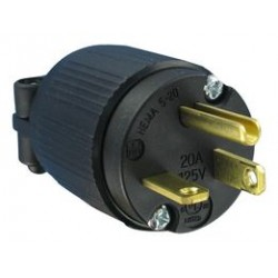 Qualtek Electronics - Q-716 - Power Entry Connector, NEMA 5-20P, 20 A, Black, 125 V
