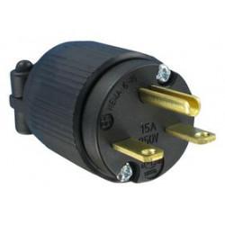Qualtek Electronics - Q-720 - Power Entry Connector, NEMA 6-15P, 15 A, Black, 250 VAC