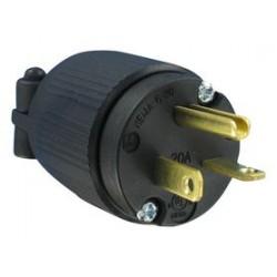 Qualtek Electronics - Q-726 - Power Entry Connector, NEMA 6-20P, 20 A, Black, 250 V