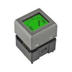 NKK Switches - IS15DSBFP4RGB - Programmable Display Switch, SPST-NO, Through Hole, 100 mA, 12 V, LCD