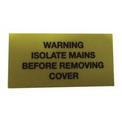 Pro Power - 7827634 - Label, Warning Isolate, Self Adhesive, 19mm x 40mm, Vinyl, Black on Yellow, 10