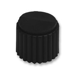 Grayhill - 11K5015-KCNB - Knob, Round Shaft, 0.25 , Nylon (Polyamide), Round with Indicator Arrow, 0.5