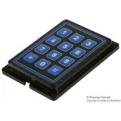 Grayhill - 88AB2-172 - Keypad, 88 Series, 10 mA, 24 V, 3 x 4, Matrix, 12