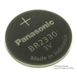 Panasonic - BR2330 - Battery, 3 V, Coin Cell, Lithium Polymer, 255 mAh, Pressure Contact, 23 mm