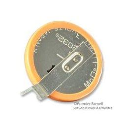 Dantona - CR2032-T14-1 - Battery, 3 V, 2032, Lithium, 200 mAh, PCB Pins, 20 mm
