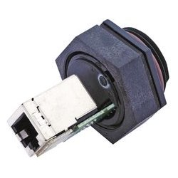 Molex - 1300550001 - In-Line Adaptor, RJ45, Receptacle, 8 Positions, RJ45, Receptacle, 8 Positions