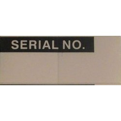 Pro Power - 7827269 - Label, Serial No., Self Adhesive, 15mm x 38mm, Vinyl Cloth, White on Black, 14
