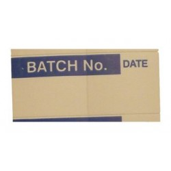 Pro Power - 7827271 - Label, Batch No., Self Adhesive, 15mm x 38mm, Vinyl Cloth, Blue on White, 14