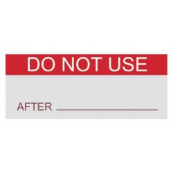 Pro Power - 7827277 - Label, Do Not Use, Self Adhesive, 15mm x 38mm, Vinyl Cloth, Red on White, 14