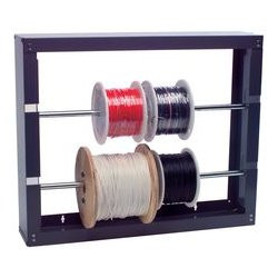 Pro Power - 8537-0690 - Cable & Wire Spool Rack, Four 0.625 Rods, Steel, Grey, 37 H x 26 W x 6 D