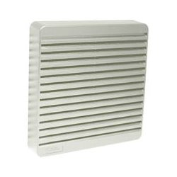 Hammond Manufacturing - XPFA120CG - Vent, ABS, Beige, Grey, 120 mm Square Fans, 150 mm, 150 mm