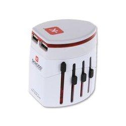 Skross - 1.302101 - Travel Adaptor, World, Dual Usb, White