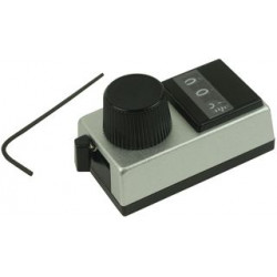Vishay Semiconductor - 015-1-31 - Turns Counting Dial, 10 Turns, 6.35 mm, Satin Body w/ Black Dial