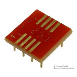 Aries - 08-350000-11-RC - IC Adapter, 8-SOIC to 8-DIP, 2.54mm Pitch Spacing, 7.62mm Row Pitch, 350000-11-RC Series