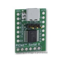 Microchip - ADM00393 - Evaluation Module, USB-To-UART, 8 General Purpose (GP) Lines, DIP form-factor