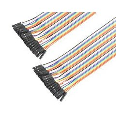 Pro Signal - PSG-JRBN40-FF - Jumper Ribbon Cable, 6 Jumper Wires, 0.1 Header Contacts, 40-pin Ribbon Cable