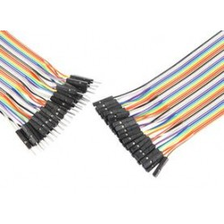 Pro Signal - PSG-JRBN40-MF - Jumper Ribbon Cable, 6 Jumper Wires, 0.1 Header Contacts, 40-pin Ribbon Cable