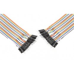 Pro Signal - PSG-JRBN40-MM - Jumper Ribbon Cable, 6 Jumper Wires, 0.1 Header Contacts, 40-pin Ribbon Cable