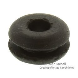 Multicomp - BG-8051 - Grommet, Round, Open, 4.776 mm, SBR (Styrene Butadiene Rubber), 7.95 mm, 1.575 mm