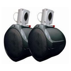 MCM Electronics - 60-10021 - 6 1/2 Marine Wakeboard Two-Way Speaker Pair - Black