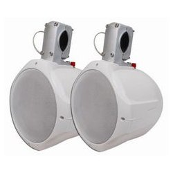 MCM Electronics - 60-10030 - 8 Marine Wakeboard Two-Way Speaker Pair - White