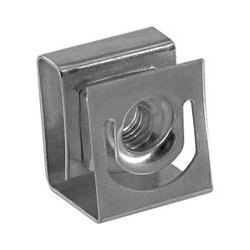 Hammond Manufacturing - 1421NP25 - Hardware, Clip Nut, Pack 25, Clip Nut, 10-32, Round punched hole rails