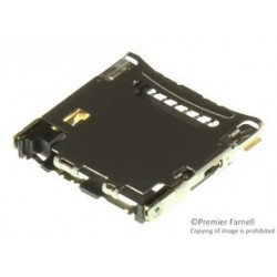 Hirose Electric - DM3CS-SF - Memory Socket, microSD Series, Memory Socket, 8 Contacts, Copper Alloy, Gold Plated Contacts