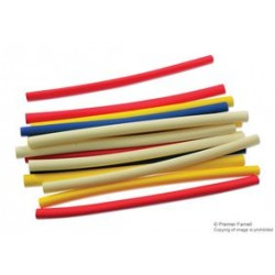 Pro Power - FPA-016-6016-AST - Heat Shrink Tubing Kit, 16 6 Long Pieces in 4 Sizes and Colors, Polyolefin