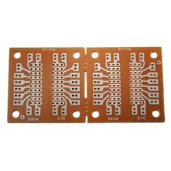 MCM Electronics - 21-4595 - IC to Pin Out Adaptor, DIP-10, Epoxy Glass Composite, 6.35mm, 44.45mmx44.45mm