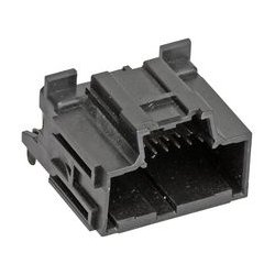 Molex - 34691-6120 - Rectangular Power Connector, Stac64 34691 Series, Through Hole, Header, 12 Contacts, 2.54 mm, Pin