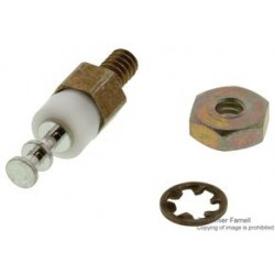 Cambion - 570-1504-01-05-19 - Turret Thread Mount Terminal, 6-32, Insulated, Silver