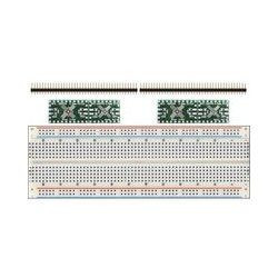 SchmartBoard - 204-0016-31 - 2 pack of EZ .5mm Pitch, 16 and 20 Pin QFP & QFN Adapter with Breadboard