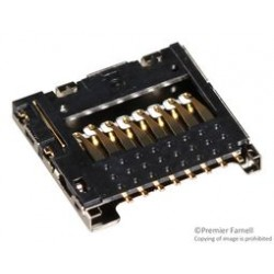 Molex - 104031-0811 - Memory Socket, 104031 Series, Micro SD, 8 Contacts, Phosphor Bronze, Gold Plated Contacts