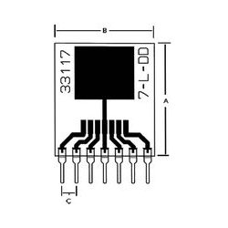 Capital Advanced - 33117 - IC Adapter, 7-TO-263 to 7-SIP, 1.27mm Pitch Spacing, 2.54mm Row Pitch, 33000 Series